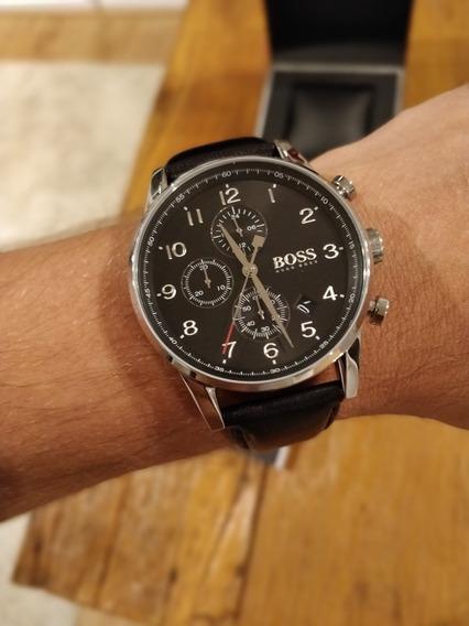 Relógio Hugo Boss Masculino Couro Preto - 1513678