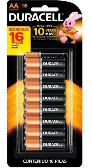 Duracell Duralock Pilha Alcalina Aa Cartela C/16 Unidades