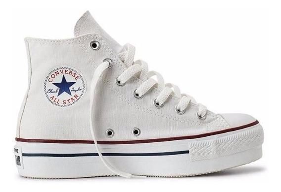 Converse Chuck Taylor All Star Plataforma Hi White