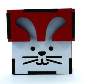 Lembrancinha Pascoa Caixa Mdf Colorido 5,5x5,5x4 - 50 Und