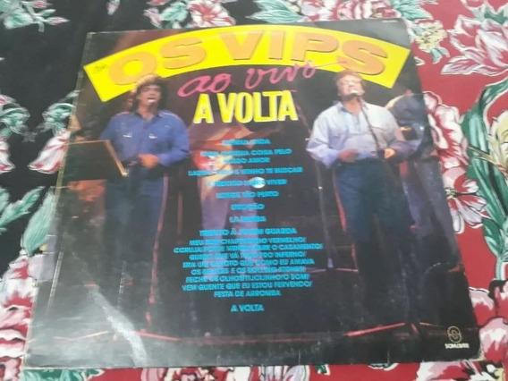 Lp Vinil - Os Vips - A Volta - Ao Vivo - Som Livre - 1990