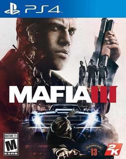 Juego Mafia 3 Ps4 Fisico Nuevo Sellado Envios Flex