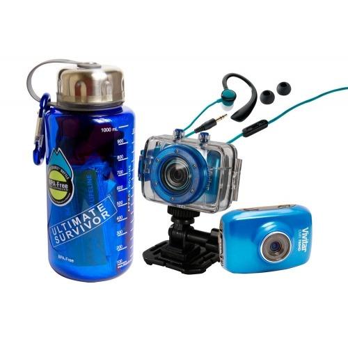 Câmera De Ação Hd, Kit De Sobrevivência, Fone De Ouvido