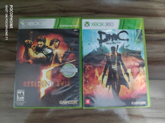 Kit 2 Games Capcom - Dmc & Re5 - X360 Midia Fisica