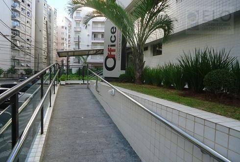 Imagem 1 de 5 de Sala, 37 M² - Venda Por R$ 320.000,00 Ou Aluguel Por R$ 2.600,00/mês - Boqueirão - Santos/sp - Sa0142