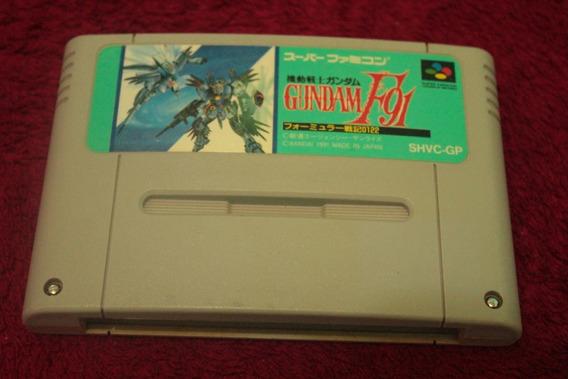 Jogo Gundam F-91 Original Super Nintendo Super Famicom