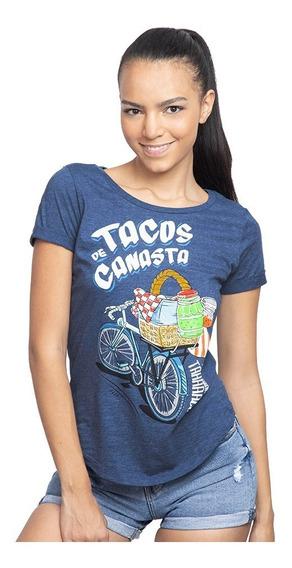 Playeras Tacos De Canasta Mujer Mujer Licencia Mascara De La