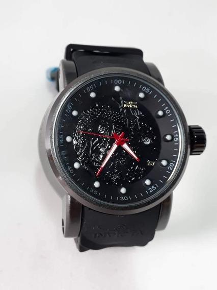 Relógio Invicta Yakuza S1 Dragon Na Caixa - Pulseira Black