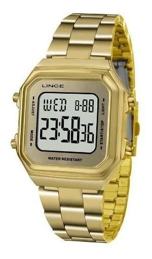 Relógio Lince Feminino Sdg616l Bxkx Digital Dourado