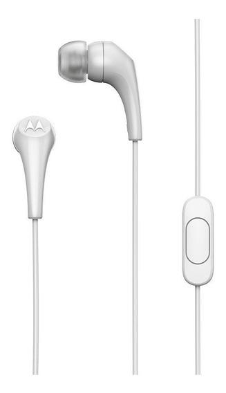 Fone De Ouvido Motorola Estereo Earbuds 2 In Ear Branco