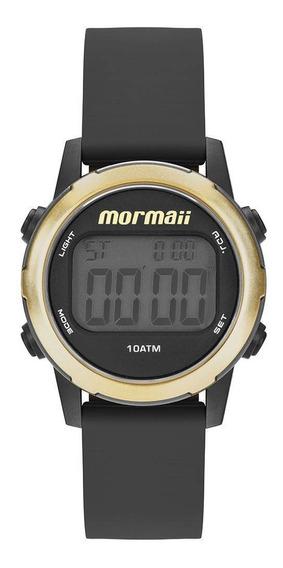 Relógio Feminino Mormaii Digital Mo3700aa/8d - Preto/dourado