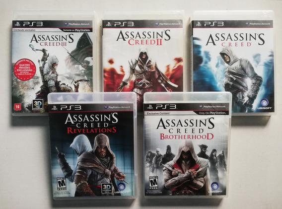 Lote, Kit 5 Jogos Assassins Creed Ps3 Mídia Física - Usados