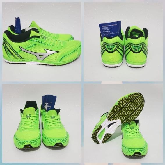 Tênis Mizuno Wave Ekiden 11 Masculino Running Cinza Ou Verde Muito Leve! Original Com Frete Grátis E Nota Fiscal