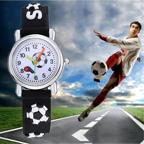 Relógio Infantil Menino/menina Futebol Soccer