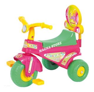 Triciclo Infantil Moto Nena Plastico Lady Biemme 1 A 3 Años