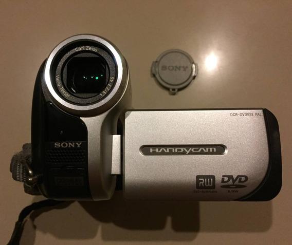 Filmadora Sony Handycam Dcr-dvd92e,carregador, 3 Min.dvs