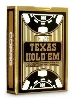 Baralho 100% Plástico Texas Hold