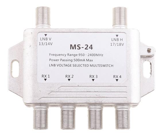2x4 Way Lnb Voltagem Selecionada Multi Switch Satélite 2 Em