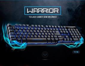 Teclado Gamer Warrior Tc196 Usb Semi Mecanico