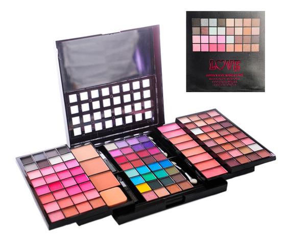 Love Set Completo De Maquillaje Paleta De Sombras Y Rubores