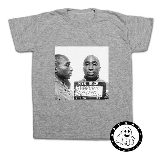 Remera Tupac Shakur Prision 2pac Rap Hip Hop Algodón