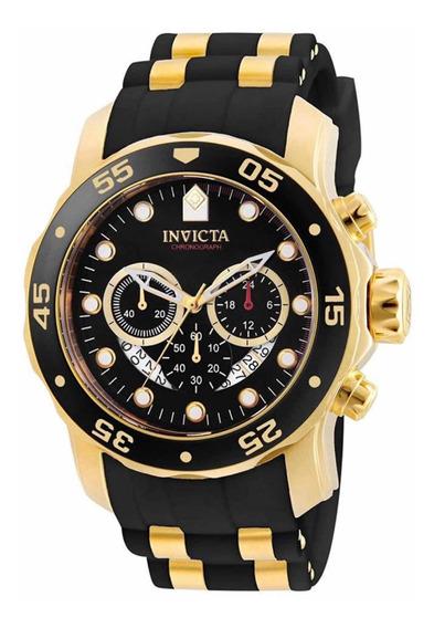 Reloj Invicta Original De Acero Y Baño De Oro De 18k