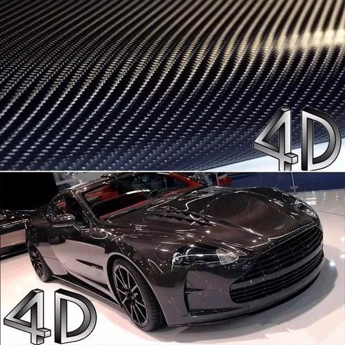 Envelopamento Fibra Carbono 4d Preto 2m X 70cm - Imprimax