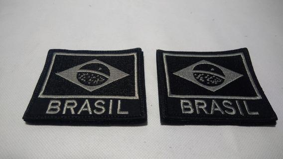 Patch Bandeira E Escrito Brasil 1
