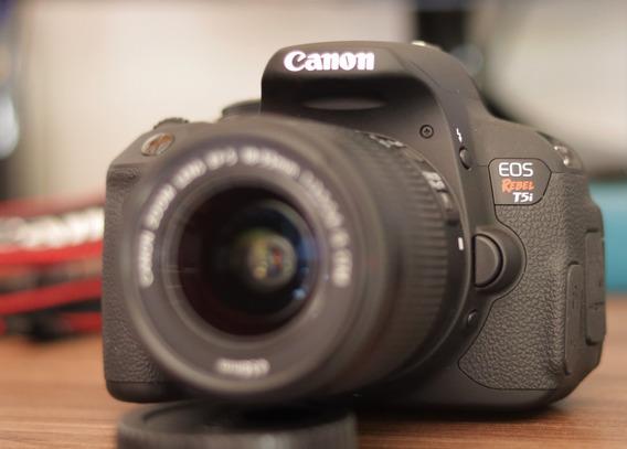 Câmera Canon Eos Rebel T5i (impecável - Apenas 2.046 Clicks)