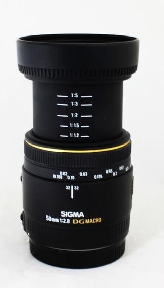 Lente 50mm F/2,8 Macro Sigma Para Canon