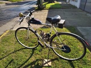 Bicicleta A Motor Antigua Restaurada