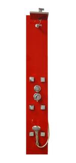 Ducha Escocesa Vidrio Rojo, 6 Jets Ducha + Duchador De Mano