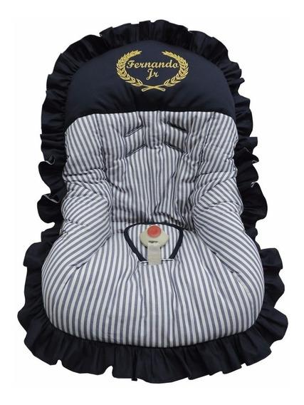 Capa Para Bebê Conforto Personalizado Azul Marinho