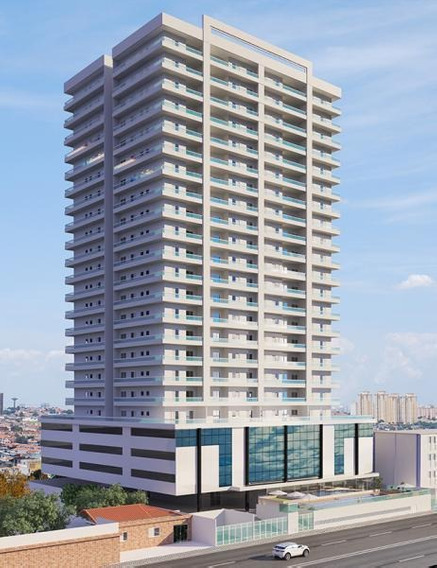 Apartamento 2 Dormitórios Para Venda Em Praia Grande, Vila Caiçara, 2 Dormitórios, 1 Suíte, 1 Banheiro, 2 Vagas - Ap00004