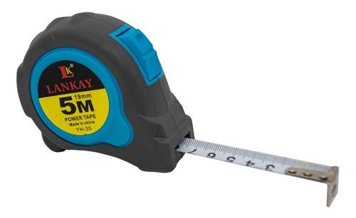 Cinta Métrica 5m Freno Seguridad Clip Metálico 19mm Fleje An
