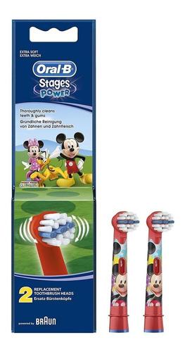 Repuesto Cabezal Cepillo Eléctrico Oral-b Kids Mickey