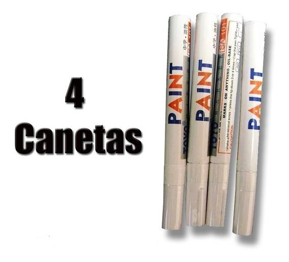 4 Caneta (s) Para Pintar Pneu - 4 Canetas Frete Grátis A