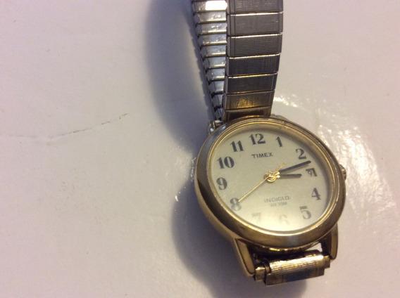 Relógio Timex Indiglo Feminino Orig. Pulseira Aço Elástica