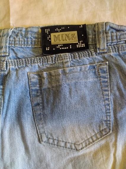Pollera Mini Mine 38 Mujer Jeans