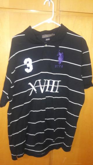 Camiseta Importada Us Polo Assn Preta Tamanho 2xl