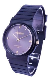 Reloj Okusai Steel Wr 100m. Acero Black Garantía Oficial 12m