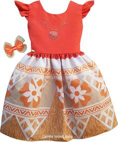 Vestido Moana Festa Luxo E Bico De Pato Promoção
