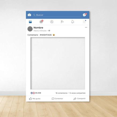 Marco Facebook Nueva Version Personalizado Imprimible