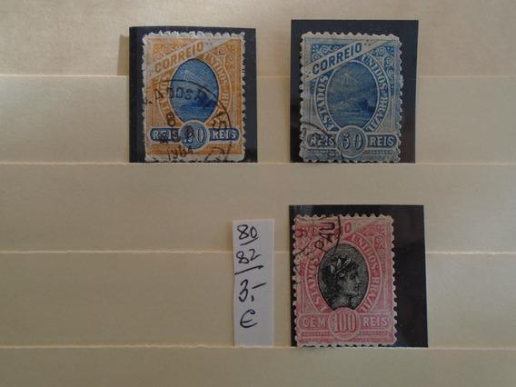 Estampillas Brasil.3 Sellos De 1894- Eu 3 .impecables.