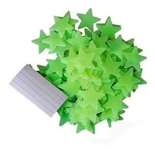 Estrellas Plasticas Fluorescentes X50 Unidades Luminosas Tamaño 3.8cm