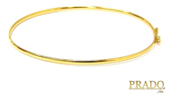 Pulseira Bracelete Algema Em Ouro 18k