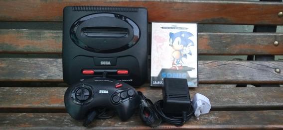 Mega Drive 3 Sonic 1 Controle E Fonte Pal Europeu