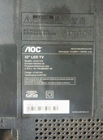 Tv Aoc Le32d1352 Tela Quebrada