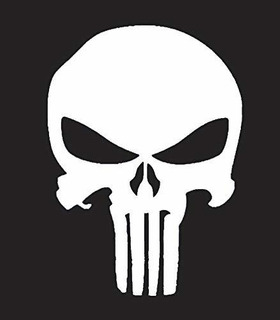 Punisher Skull Nok Decal Vinilo Adhesivo | Coches Camiones F