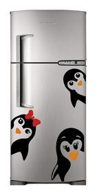 Adesivo Decorativo De Geladeira Pinguim Filhos